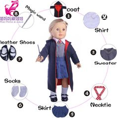 Cheap Dolls, Buy Directly from China Suppliers:Doll Clothes sets for 18-inch Doll boy girl Harry Potter cosplay Suit 45CM doll Accessories Children doll Birthday Gift