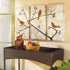 Perched Trio Artwork - Grandin Road