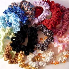 How to make a basic crocheted hair scrunchie