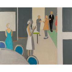 artist: sarah benham / title: the dinner party / year: 2012 / medium: painting / medium detail: oil on canvas / dimensions: 48.00 h x 60.00 w in.