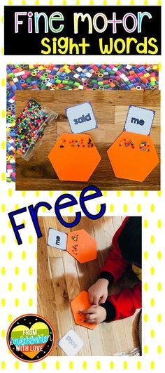 Practice sight words AND Fine Motor skills with this freebie From Kindergarten With Love. Preschool Sight Words, Spelling Activities, Sight Word Activities, Interactive Activities, Fun Activities, Kindergarten Reading, Kindergarten Worksheets, Teaching Reading, Reading Resources