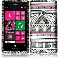 NOKIA LUMIA 521 520 ANTIQUE AZTEC RUBBER HARD PLASTIC SNAP-ON SKIN COVER CASE 7.00 ebay free shipping
