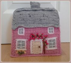 Crochet cottage doorstop inspired by the lovely cottages of Suffolk Pattern on Ravelry