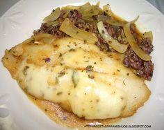 Recetario Spanglish para mis hijos: Filet de pescado con salsa de cebolla