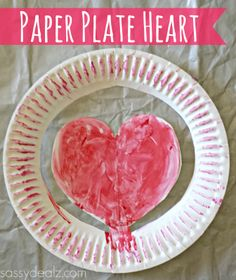 paper plate heart hat craft