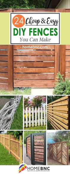 How to save money building a fence acre fences and backyard 24 unique do it yourself fences that will define your yard solutioingenieria Image collections