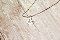 I Heart Squats Hand Stamped Fitness Necklace by BeastModeJewelry