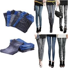Casual Women Lady Slim Fitness Long Leddings Jegging Long Thick Pants Trousers