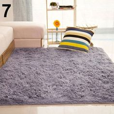 New Fashion Fluffy Rugs Anti-Skid Shaggy Area 40X60cm Home Bedroom ...