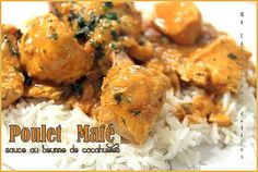 Recette mafé poulet, sauce aux cacahuetes