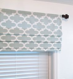 Custom made Faux Roman Shade Valance 18 inches in length including 2 1/2 rod pocket in your choice of width up to 50. This is stationery