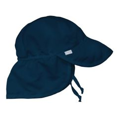 i play. Unisex-baby Infant Solid Flap Sun Protection Hat Navy months  Adjusts around crown of head so it stays on 8443f0bf568d
