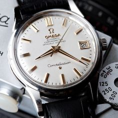 Fancy - Men's Omega Constellation Automatic Chronometer Amazing Watches, Beautiful Watches, Cool Watches, Rolex Watches, Beautiful Life, Stylish Watches, Luxury Watches For Men, Breitling, Omega Constellation Automatic