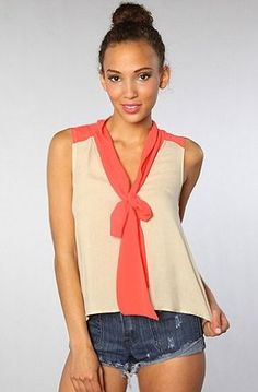 NYC Boutique *NYC Boutique The Summer Breeze Top in Orange,Tops (Sleeveless) for Women