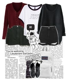 """""""~I Am An Artist and I Have Fantasies~"""" by a-random-gryffindork ❤ liked on Polyvore featuring Nordstrom, Levi's, H&M, JanSport, Topshop and MoMo"""