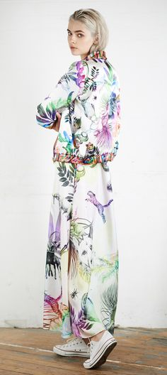Browse Patti Dress in Jungle Pride Print and more from Klements at Wolf & Badger - the leading destination for independent designer fashion, jewellery and homewares. Printed Bomber Jacket, Rainbow Print, Slow Fashion, Cotton Dresses, Silk Dress, Cashmere, Women Wear, Style Inspiration, Pride