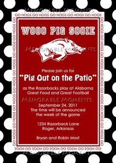 Great idea for *someone's* razorback couple's shower I am going to help throw!  She follows me, so will not mention :]