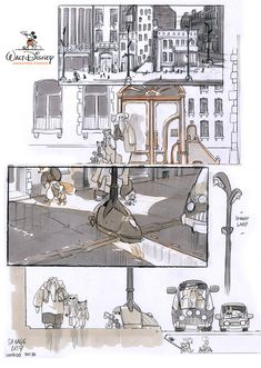 """man-arenas: """" Back in 2011, My very first visual development for a town yet named ANIMALIA, that would eventually become Zootopia. Byron and Jared were looking for visuals for a city populated by..."""