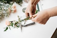 Bespoke, beautiful, and bold, are the words most often associated with Tina Riddell of Living Fresh Flower Studio & School. We asked the Ontario florist to design floral arrangements for our Mother's. Fresh Flowers, Pretty Flowers, Hair Toppers, Flower Studio, Blush Pink Weddings, Floral Headbands, Organic Shapes, Floral Wall, Simple Weddings