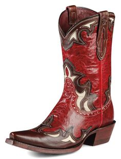 Womens Ariat Reina Boots Red #10008774 -- Texas Tech Raiders fans need these boots!