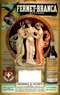 On Fridays we drink Fernet-Branca Vintage Italian Posters, Pub Vintage, Vintage Advertising Posters, Old Advertisements, Vintage Labels, Vintage Travel Posters, Vintage Cards, Poster Vintage, Old Posters