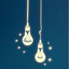 Stickers phosphorescent : stickers ampoule Mimilou                              …