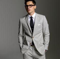 pale grey suit...great for summer