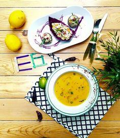 Supa de #morcov cu lapte de #cocos si #ciuperci umplute cu #bulgur si #quinoa