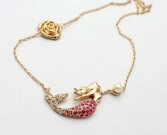 Gold Gemstone Mermaid