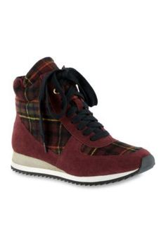Bella-Vita Burgundy Enice High Top Sneaker