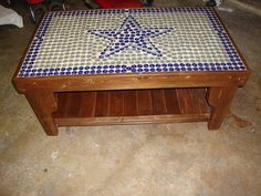 Dallas Cowboys Star Bottle Cap Table Without by HorseshoeTableCo