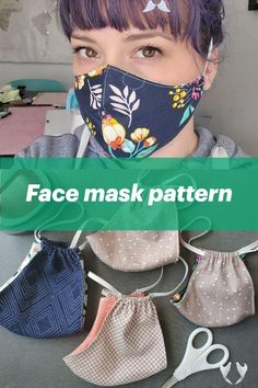 DIY Face Mask Pattern Cricut Project  <br> We've seen so many of you creating projects to support your families and communities during this time. It's absolutely inspired us. We know there's a need for face masks and so we've created an eas… Sewing Patterns Free, Free Sewing, Free Pattern, Pattern Sewing, Embroidery Patterns, Sewing To Sell, Hand Embroidery, Easy Face Masks, Diy Face Mask