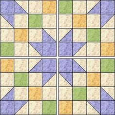 Free pattern: Pansy Star Block