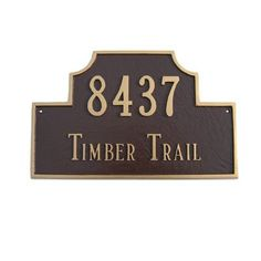 Montague Metal Products Estate Beckford Address Plaque Finish: Navy / Silver, Mounting: Lawn
