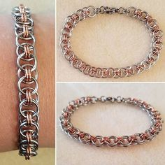 Art Smart Chainmaille Necklace Helmsweave Pattern Stainless Steel