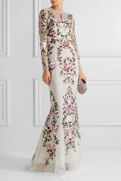 ZUHAIR MURAD Embroidered silk-blend lace gown £4,210.00 https://www.net-a-porter.com/product/738801