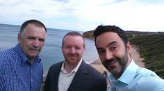 Jason and Arman with Gerard from Romak, a leading Australian Hardware Distributor — in Melbourne, Victoria, Australia