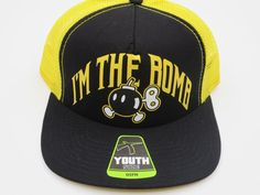 Nintendo Super Mario Bomb Black Youth Childrens Size Snapback Hat Cap  #Bioworld #BaseballCap