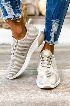 Pretty Fly Lace Up Sneakers (Taupe) Simply Me Boutique Shop Simply Me Boutique – Simply Me Boutique