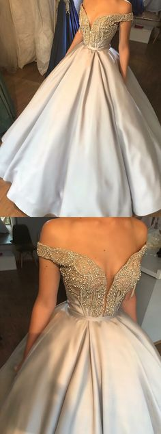 Champagne Prom Dresses,v Neck Satin Long Prom Gown, Champagne Evening Dress Off Shoulder Evening Gown, Champagne Evening Dress, Sexy Party Dress, Dress Prom, Dress Formal, Formal Prom, Dress Long, Formal Chic, Formal Gowns