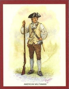 AWI Americans: American Militiaman -- 1775, by R. J. Marrion.