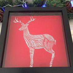 Reindeer Papercut  Christmas Papercut by SundayApplePapercuts