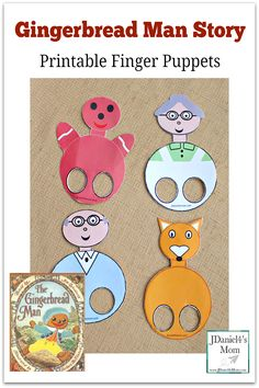 Gingerbread Man Finger Puppets -This set was created to go along with the Jim Aylesworth book. The first four puppets can be used with almost any version of the book. Gingerbread Man Story, Gingerbread Man Activities, Gingerbread Man Crafts, Christmas Gingerbread, Christmas Crafts, Literacy Activities, Activities For Kids, Reading Activities, Puppet Show
