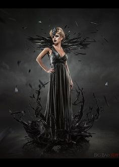 Stunning Photo Manipulations by Irina Istratova- This is a a very dark and gothic photo manipulation is very haunting. The artist has created such an interesting backdrop the black paint/water effect that is splashing up around her is a nice touch.