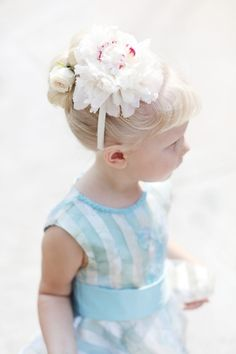 cutie flower girl with floral headband // photo by Laura Murray