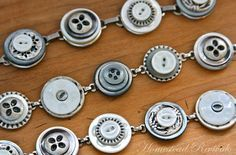 Button Bracelet Tutorial  I just discovered this blog via Pinterest....I may have found a new favorite!