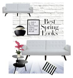 """black and white living room"" by miacanter123 on Polyvore featuring interior, interiors, interior design, home, home decor, interior decorating, Brewster Home Fashions, Kate Spade, Pulpo and 3R Studios"