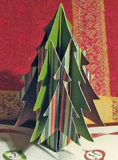 Extreme Cards and Papercrafting: sliceform Christmas tree pop up card