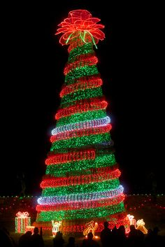Garvan Woodland Gardens Holiday Lights, Hot Springs, Arkansas