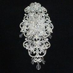 Comb Rhinestone Flowers Crystals #08025300
